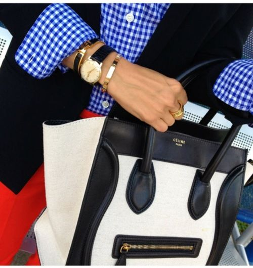 gingham with a blazer. I could likely get away with this!