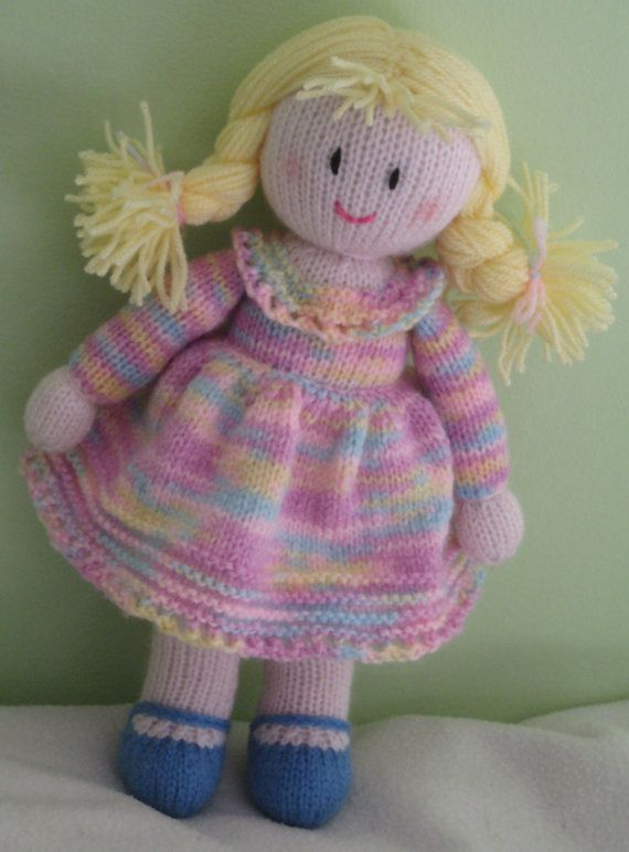 Knitting Patterns Toys Jean Greenhowe : Sale hand knitted doll free uk postage by dreamdollies on