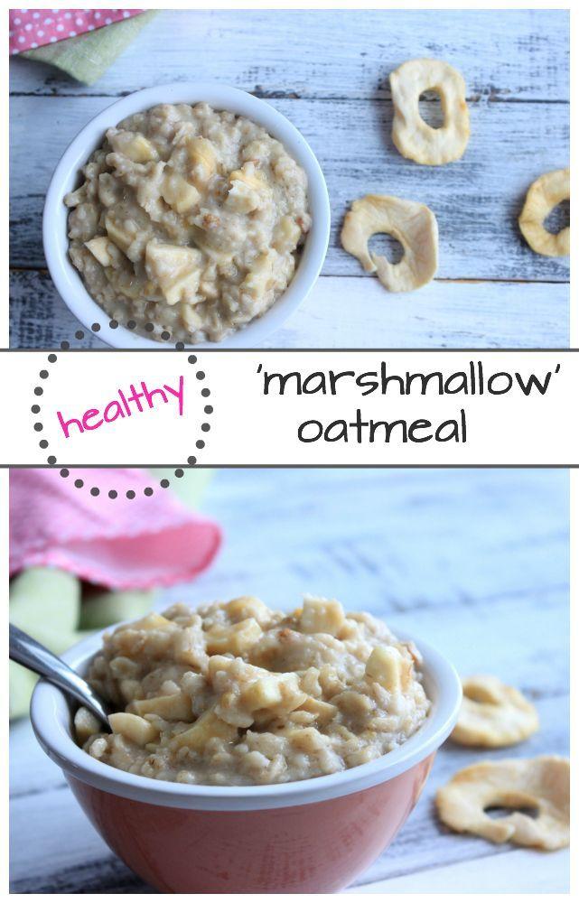 Healthy apple 'marshmallow' oatmeal #healthymarshmallows