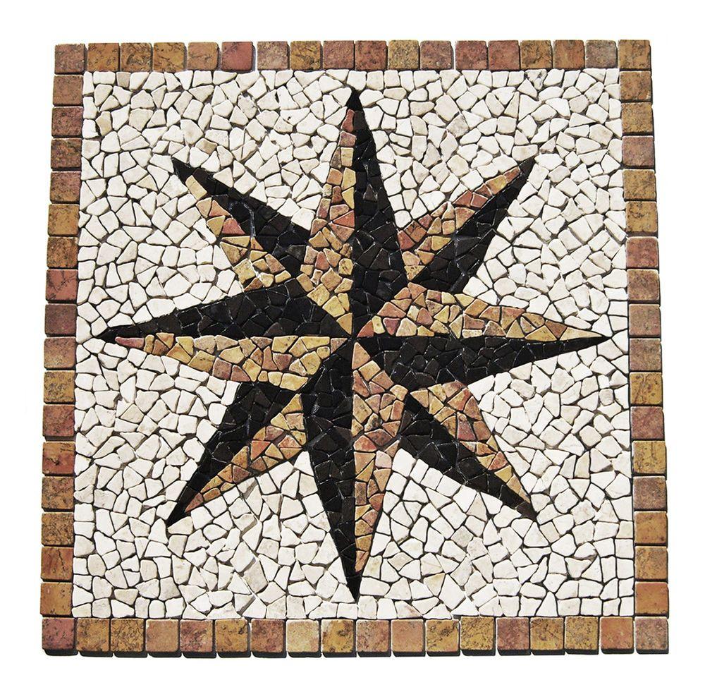 Details zu 1 Marmor Mosaik Bild RO 006 90 x 90 x 1 cm