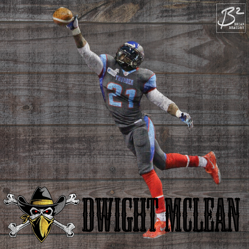 Dwight McLean's Las Vegas Outlaws player card