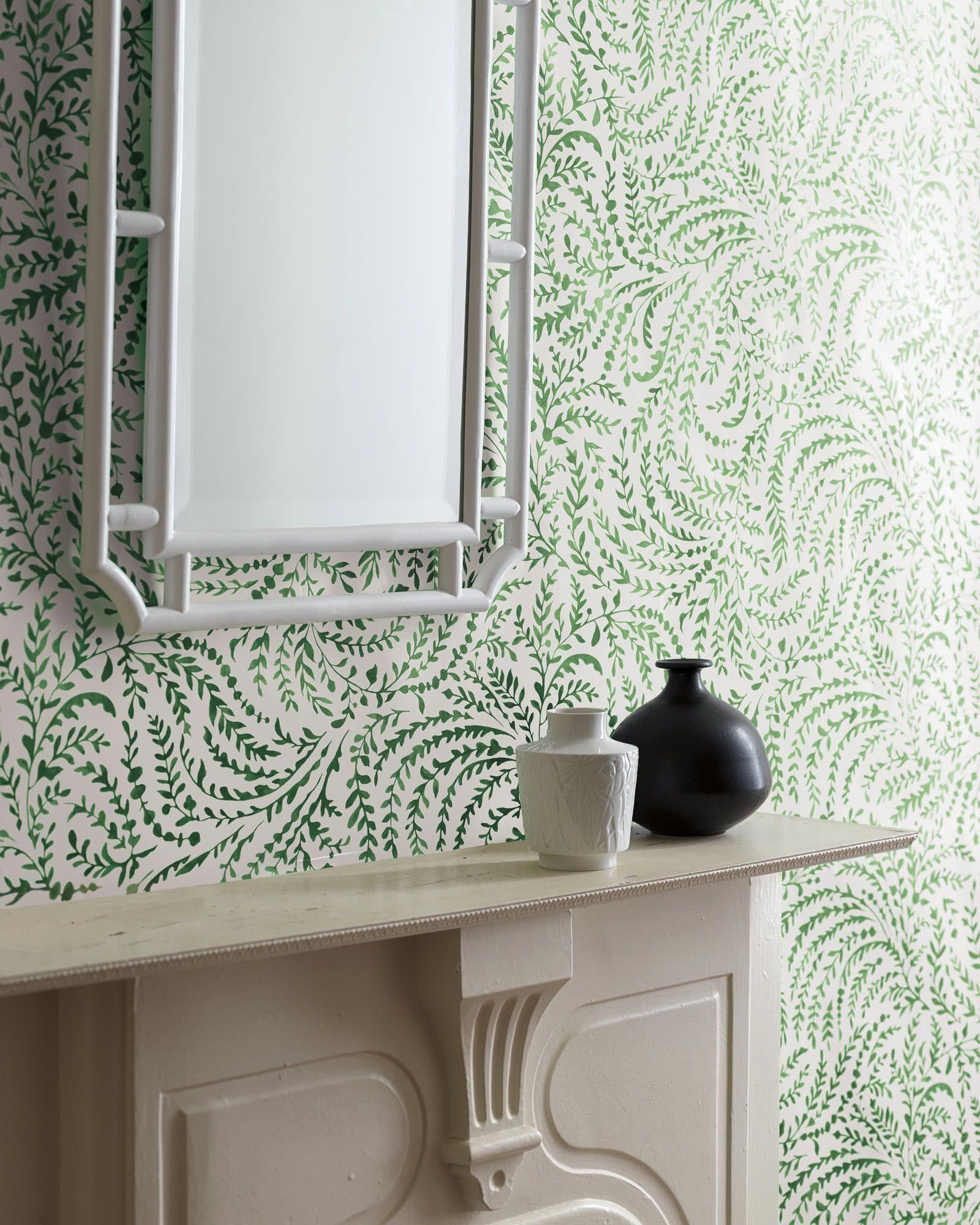 Serena & Lily Priano Wallpaper Bathroom wallpaper, Chair