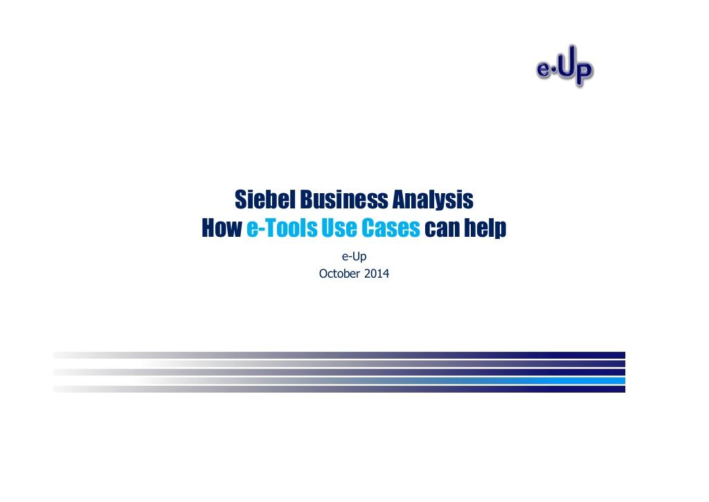 Siebel CRM - e-Tools - Analysis for requirements and