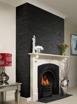 Wickes Split Face Black Mosaic 100 X 360mm Wickes Co Uk Chimney