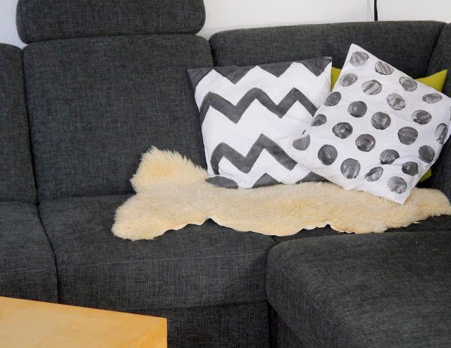 Kreacaro: DIY Kissen bestempeln