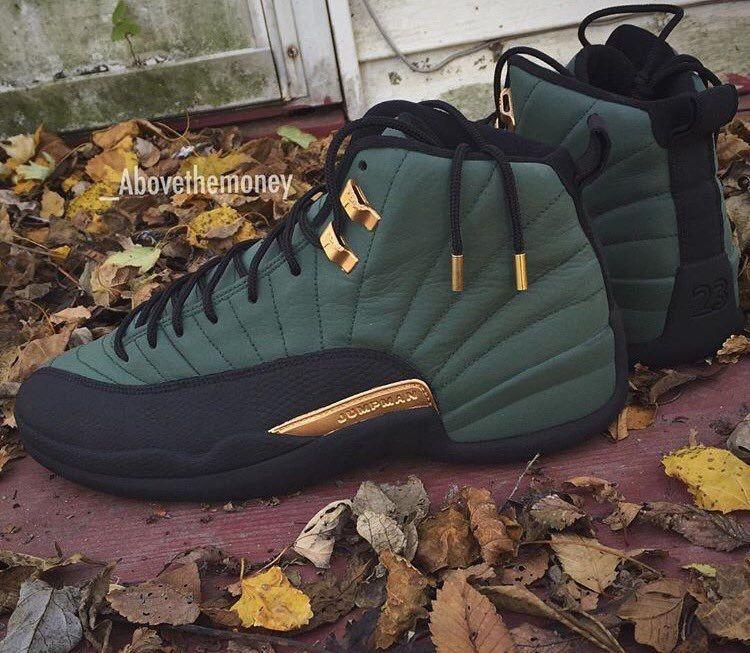 Olive Green Jordan 12's … | Shoes sneakers jordans, Jordan ...