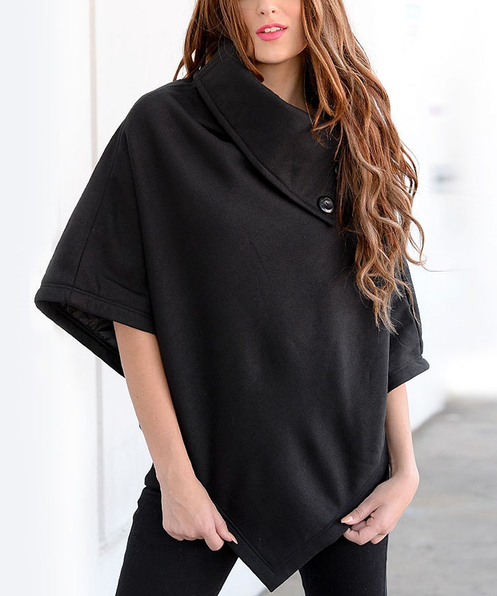 Black Oversize Cowl Neck Sweater | zulily _ Must make these ...