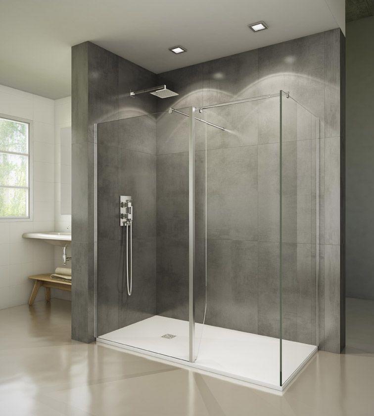 Cristal fijo screen walk in cristales fijos serie - Cristal fijo para ducha ...