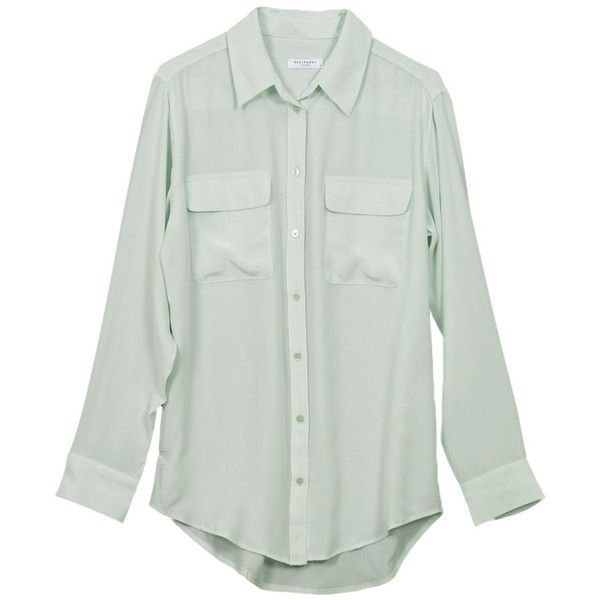 ed4d7880be33c Equipment Signature Mint Blouse ( 208) ❤ liked on Polyvore ...