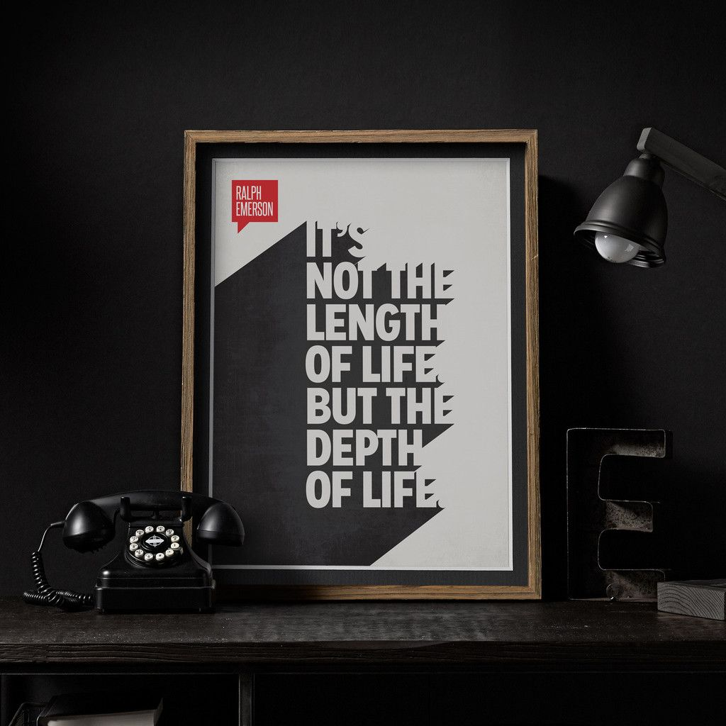 Quote poster design inspiration - Minimalist Poster Quote Ralph Waldo Emerson Design Different
