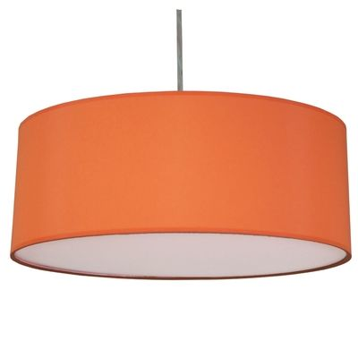 Drum Pendant Shade Burnt Orange Pink
