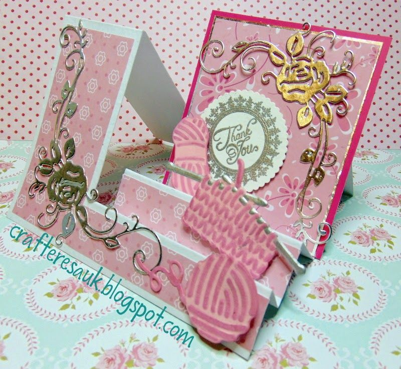 Wonderfully Made: Side Step Card & Cute Knitting Die Cuts