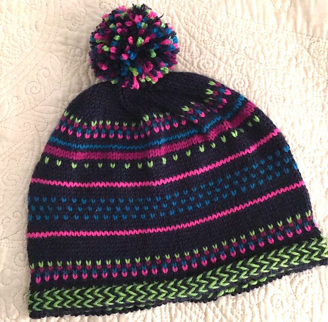 Ravelry: Project Gallery for December Stripes Hat pattern by Elinor Brown