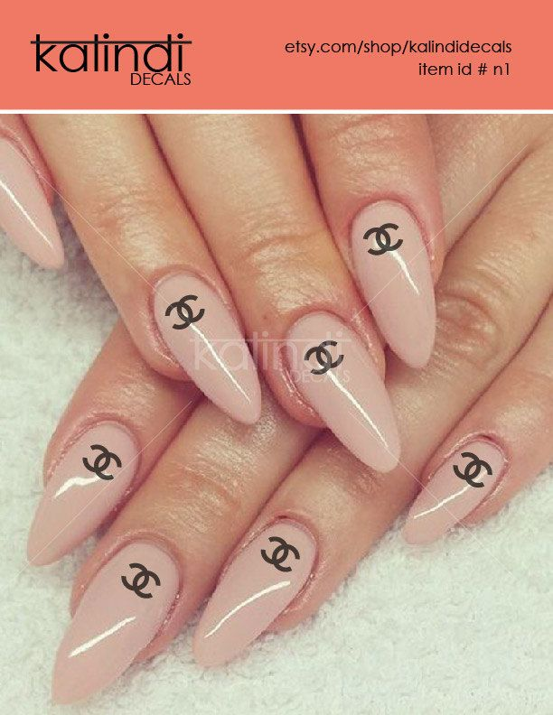 chanel nail decals stickers. vinyl
