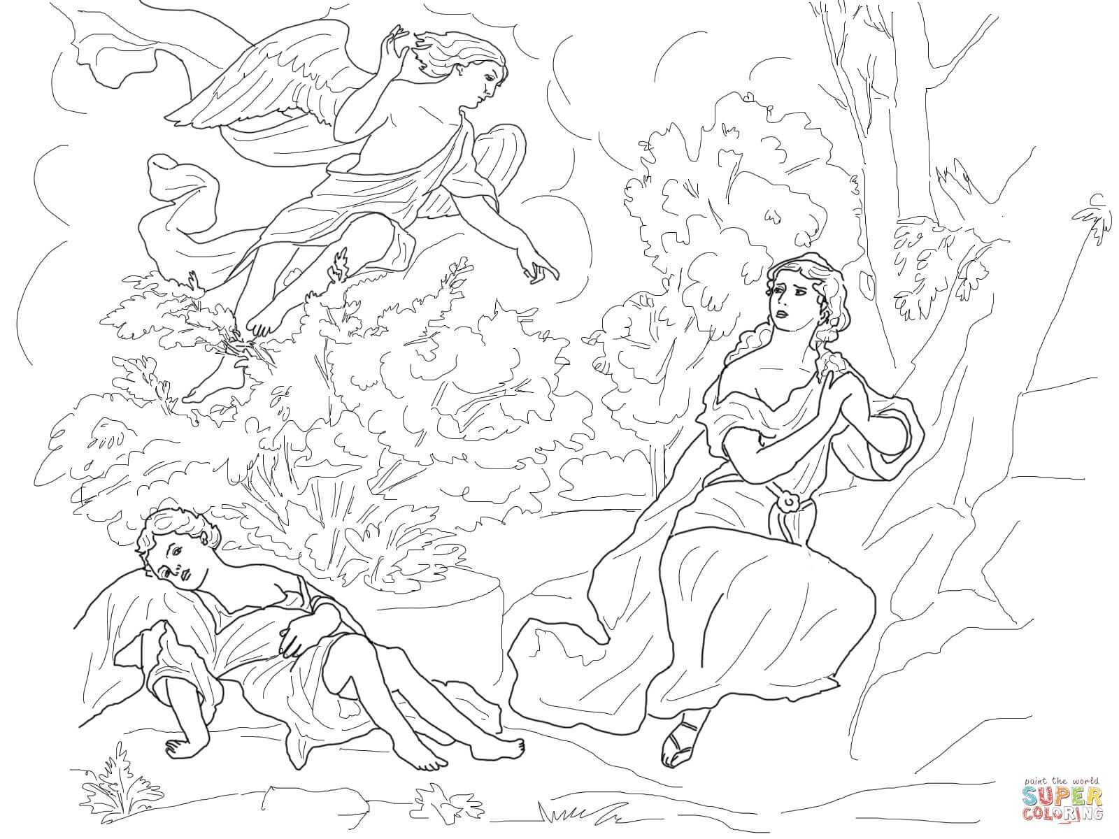 God Cares for Hagar and Ishmael coloring page from Misc ...