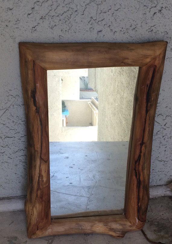 natural wood mirror decorative wood beautiful wooden mirror hand crafted natural wood organic shapes unique simple design indian mtn jefferson co
