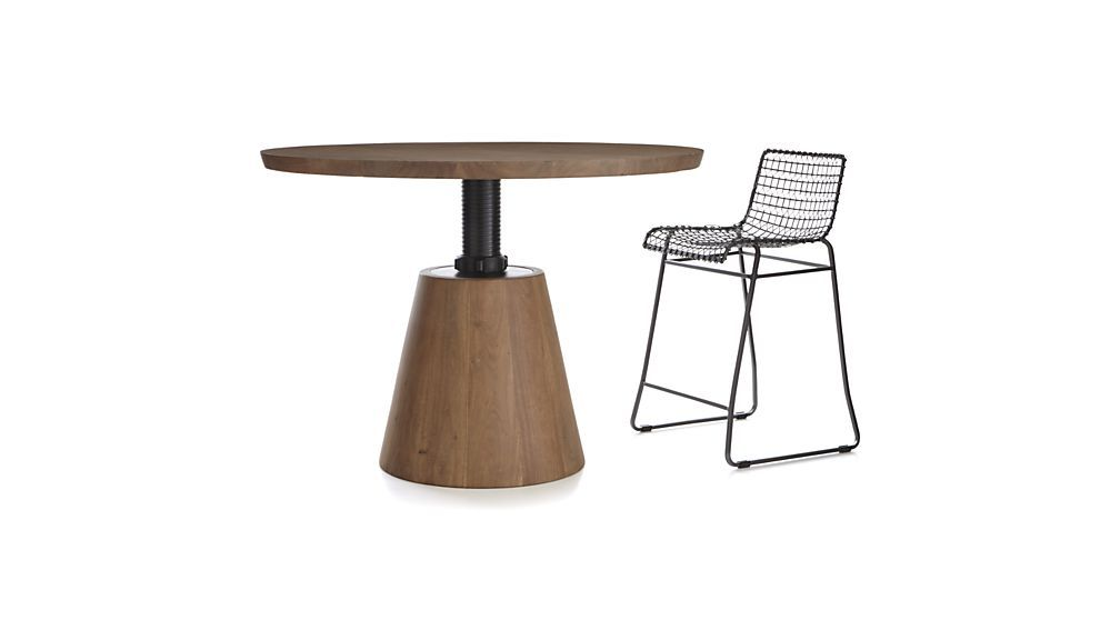 Adjustable Height Round Table.Revolve 48 Round Adjustable Height Dining Table Furniture