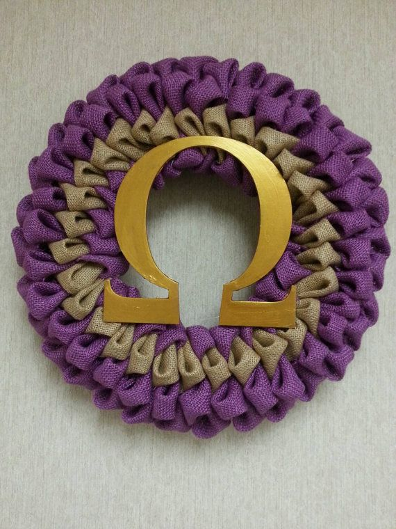 Omega Psi Phi Fraternity Wreath Decorable By Beverlee Pinterest
