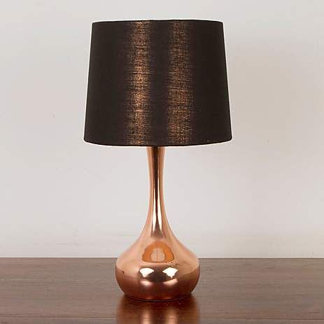 Murphy Copper Plated Table Lamp Dunelm Copper Table Lamp Bedside Table Lamps Copper Table