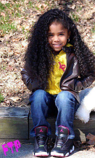 pretty girls kids black