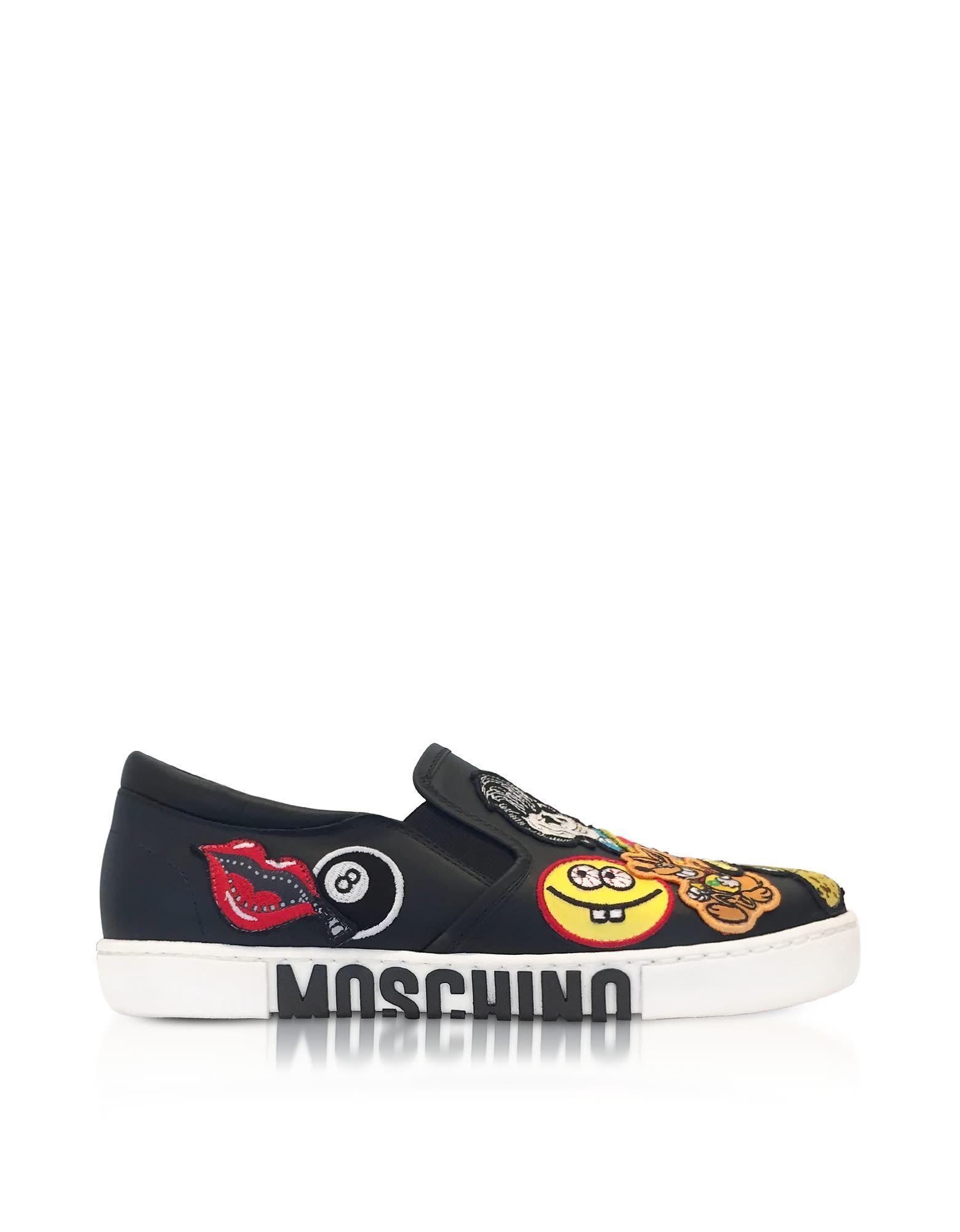 Moschino Moschino Black Leather Slip On