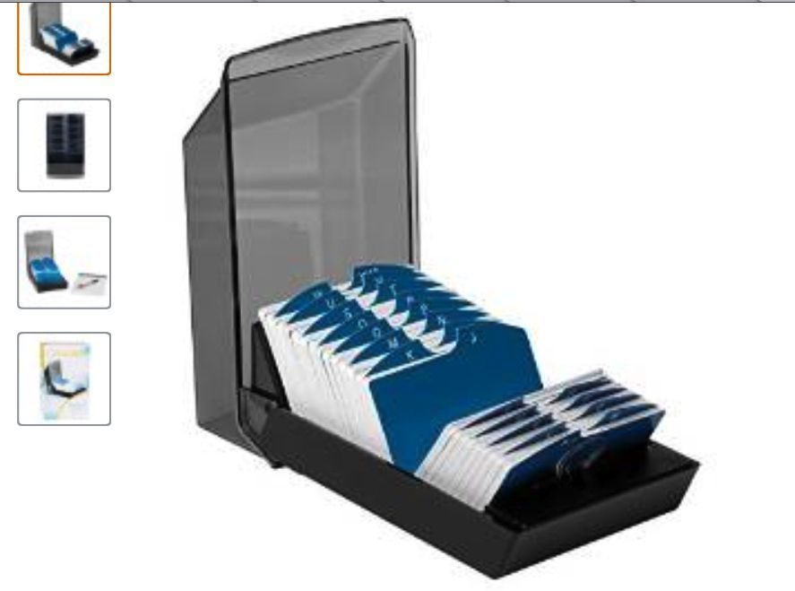New Rolodex 67011 Rolodex Covered Business Card File 500 Cards w Box ...