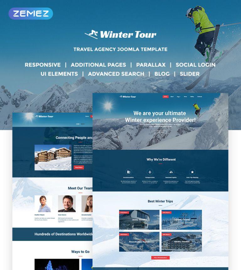 Winter Tour Travel Agency Responsive Joomla Template
