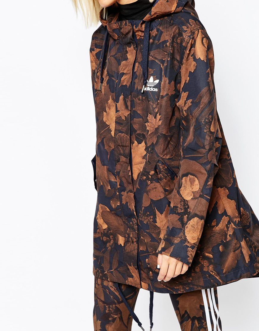 086955439961 adidas Parka Coat In All Over Camo Leaf Print