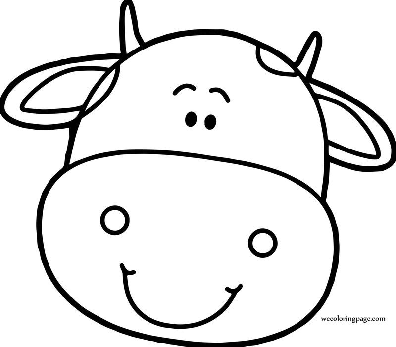 Cow Head Face Coloring Page Cow Head Cow Face Coloring Pages