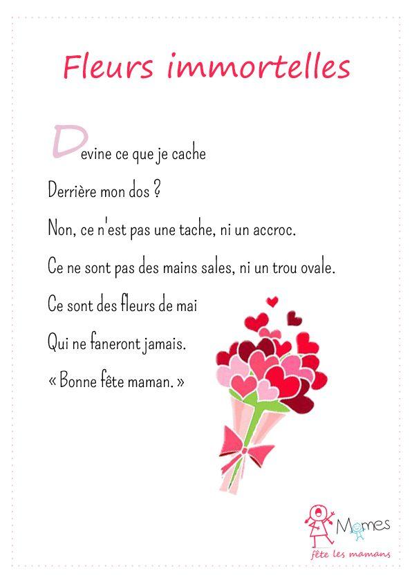 Fleurs Immortelles Fleur Immortelle Poeme Fete Des Meres Et