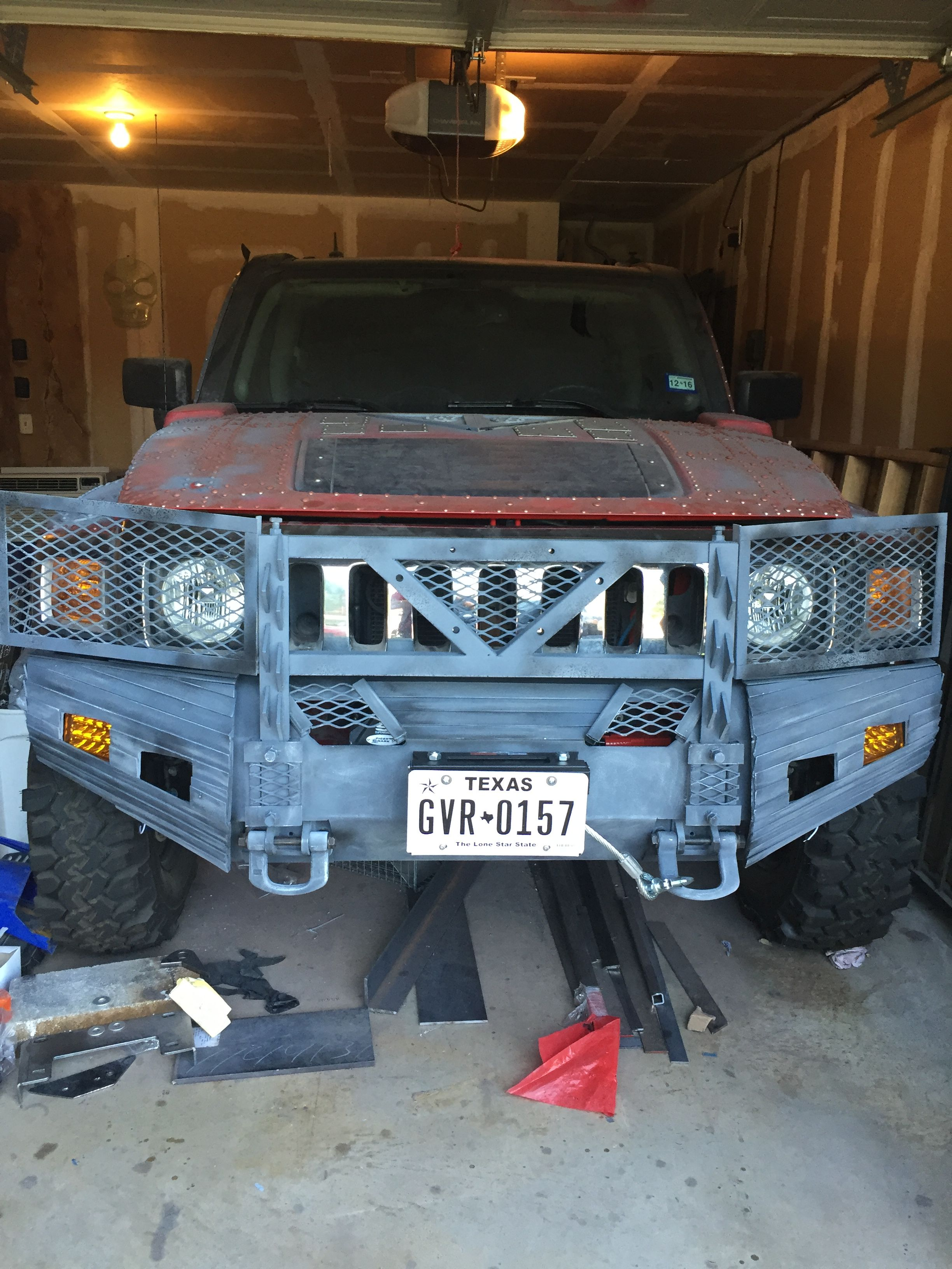 H3 Hummer Customized Move Bumper And Brush Guard Hummer Truck