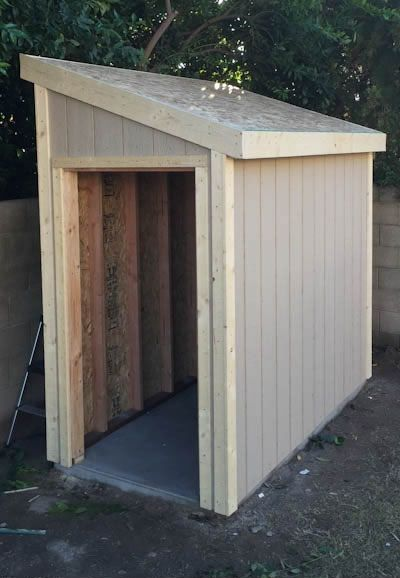BASIC SHED ~ SIZE CAN VARY | inspiration | Hangar à bois ...
