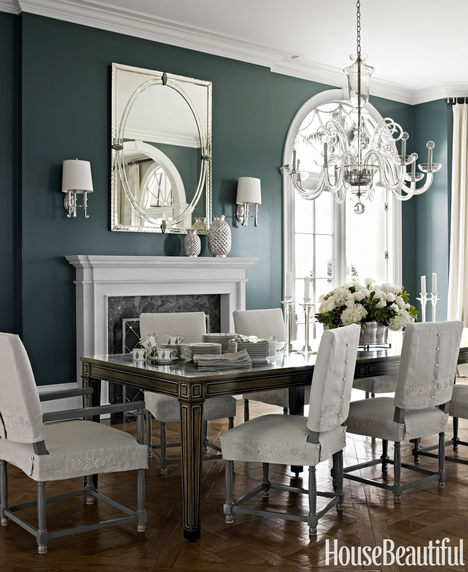 25 Blue Dining Room Designs Decorating Ideas: How To Make Dark Colors Work In ANY Room
