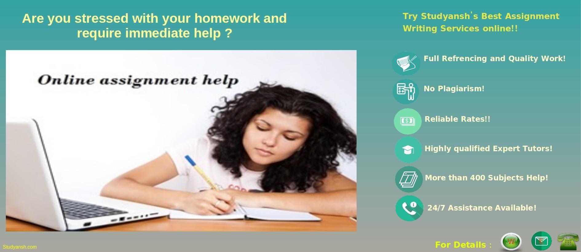 Get Best Assignment Help Services At Studyansh At Most Reliable  Get Best Assignment Help Services At Studyansh At Most Reliable Rates