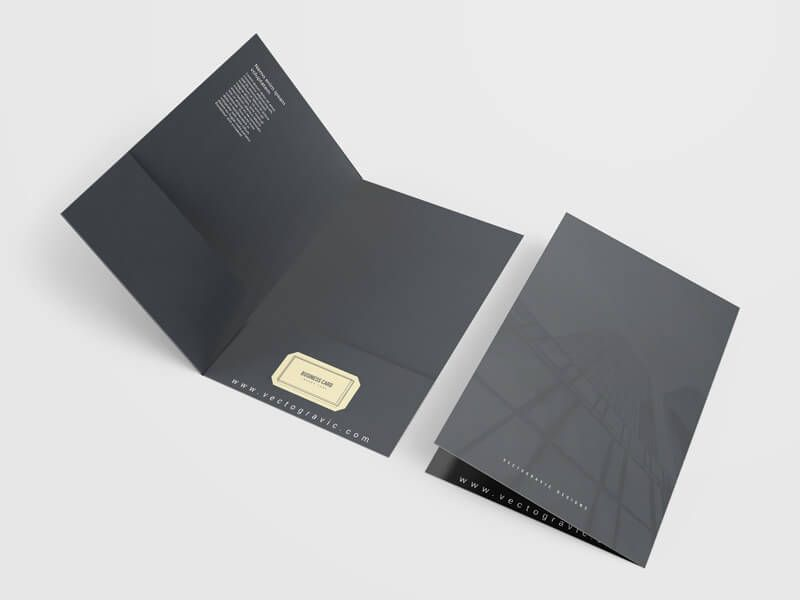A presentation folder is one of the marketing and or branding tool - resume holder