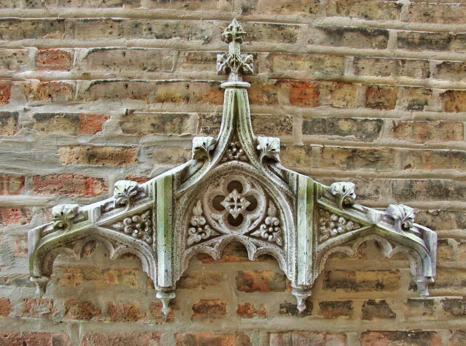 Chartres tracery header garden wall art decor sculpture by orlandi