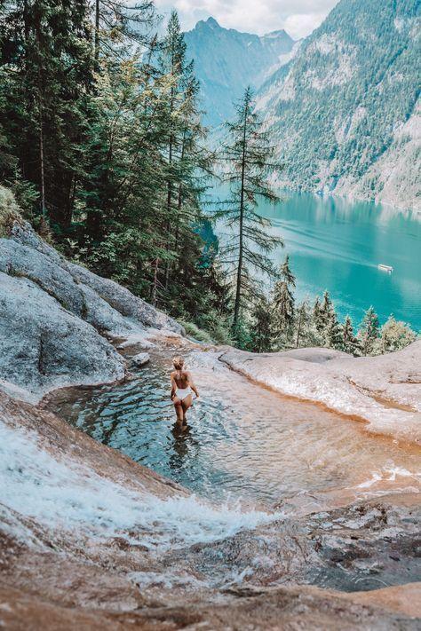 Königssee Naturpool und Wasserfall Weg und die schönsten Plätze! #beautifulplaces