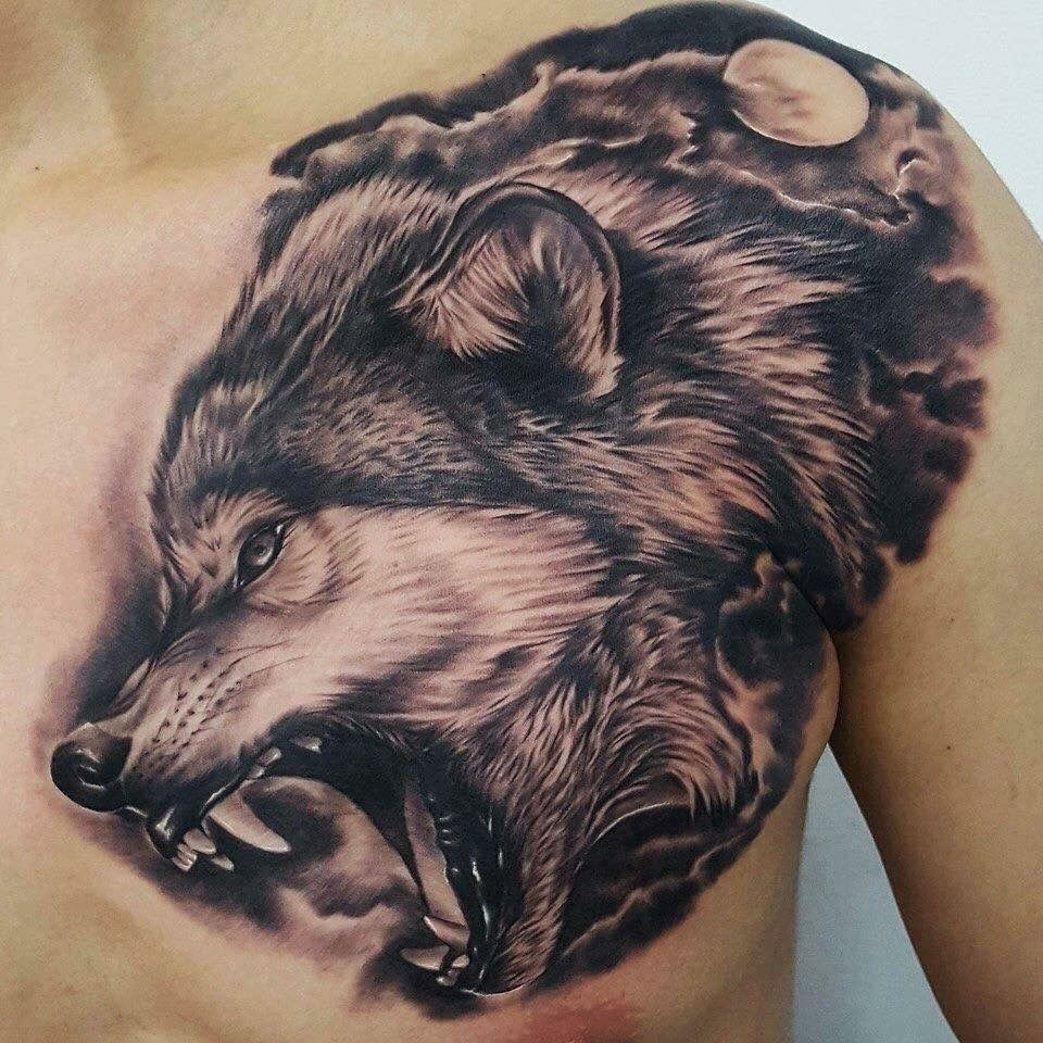 Chest to arm tattoo ideas pin by jltattoo mendez on flashes  pinterest  tattoo wolf and