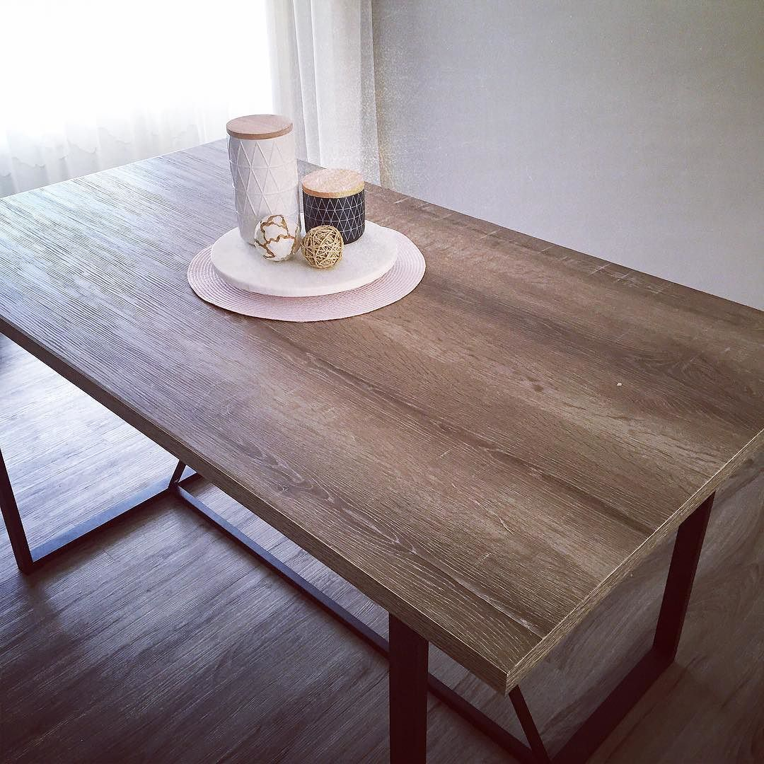 Amandabray Loves On Instagram Dining Table I Couldn T Resist This Industrial Look Dining Table From Kmart Interi Table Dining Table Dining Table Decor