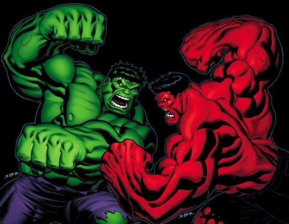 green hulk vs red hulk superheros pinterest red hulk