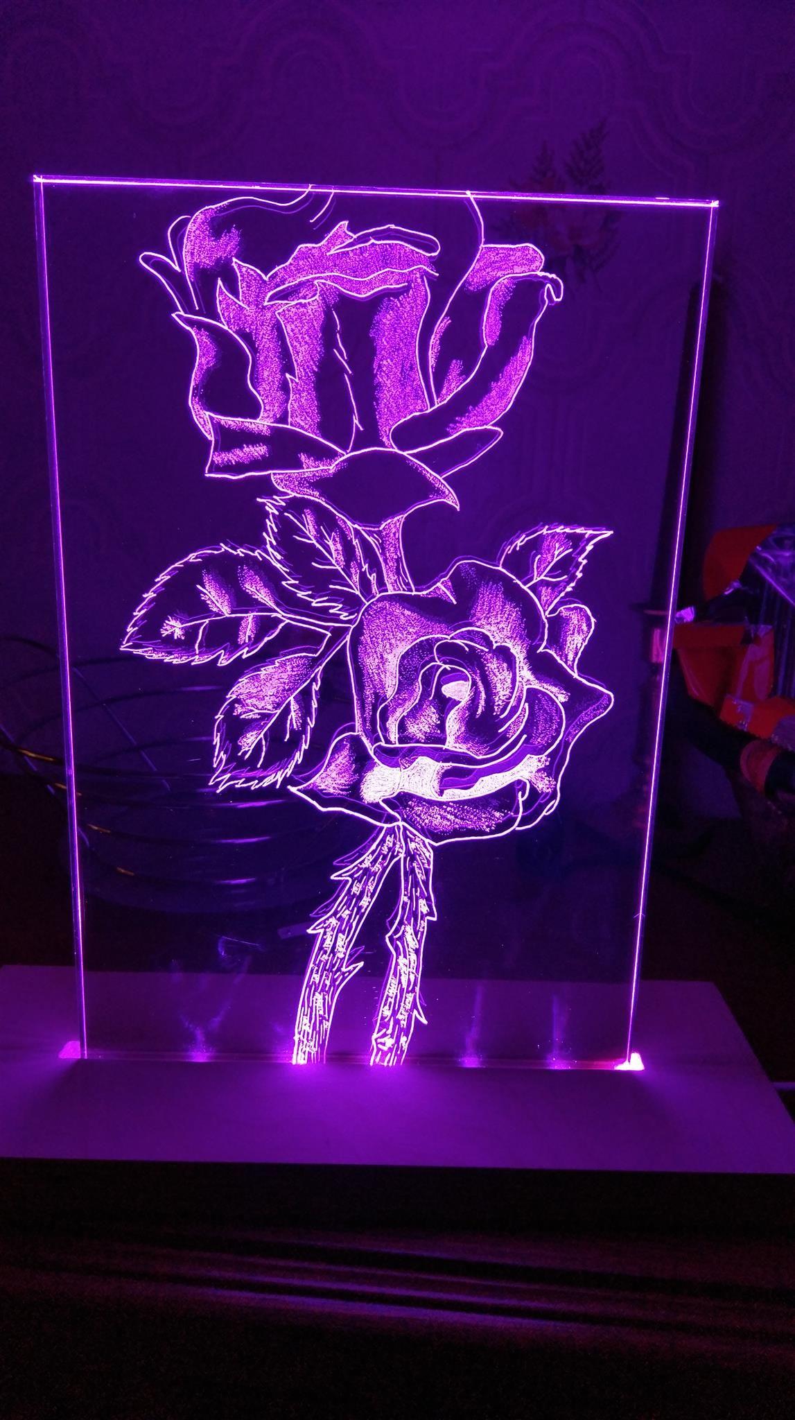 Rosen Gravierung In Plexiglas Wolle Kaufen