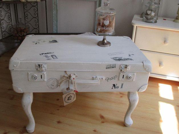 koffer weiß vintage