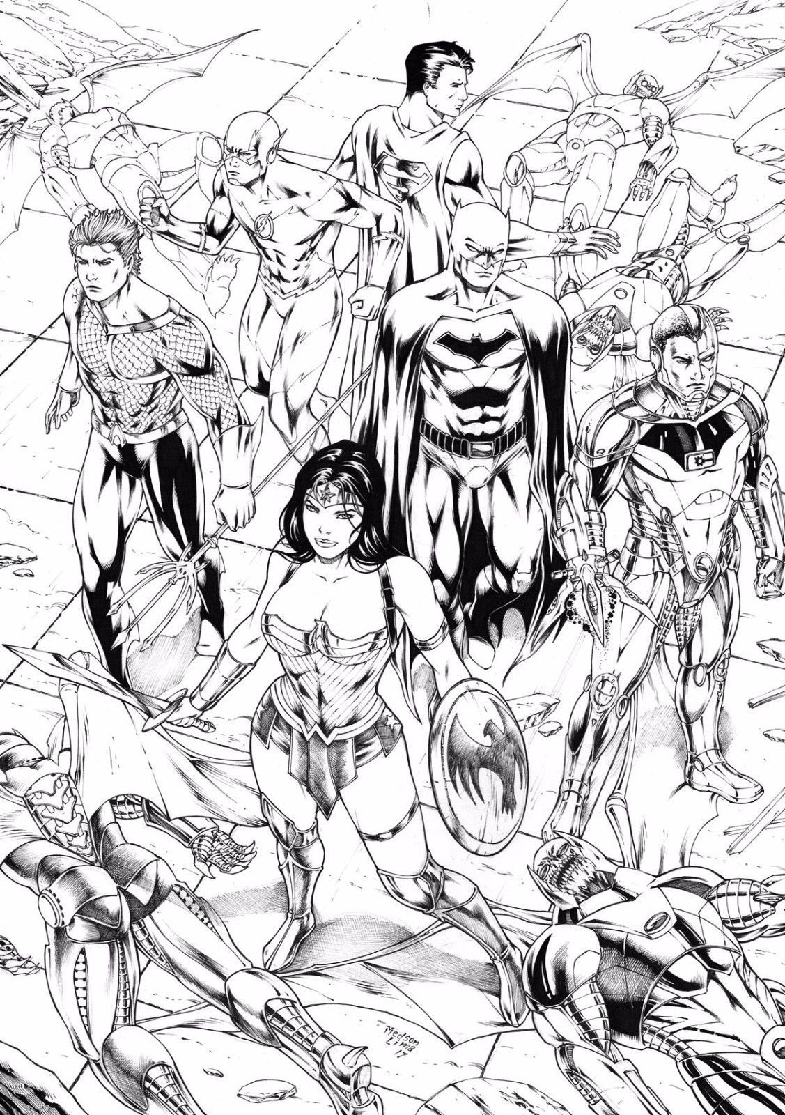 Jla By Medson Lima Justice League Of America Justice League Artwork