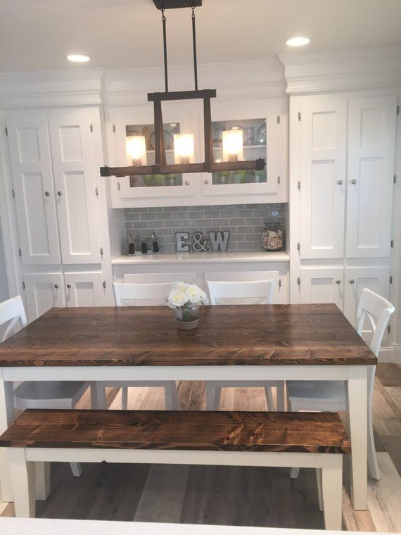 6 Solid Wood Farmhouse Table Dining Kitchen Built To Order