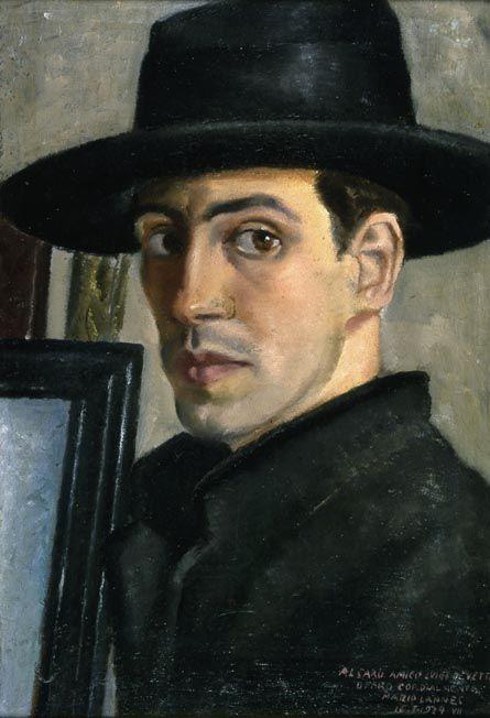 Self Portrait, 1929 by Mario Lannes  (Italian 1900 - 1983)