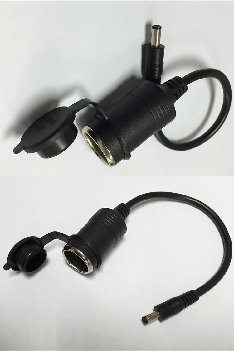 Cigarette Lighter Socket to DC5.5x2.1 Plug Waterproof Cover 15A/2464 ...
