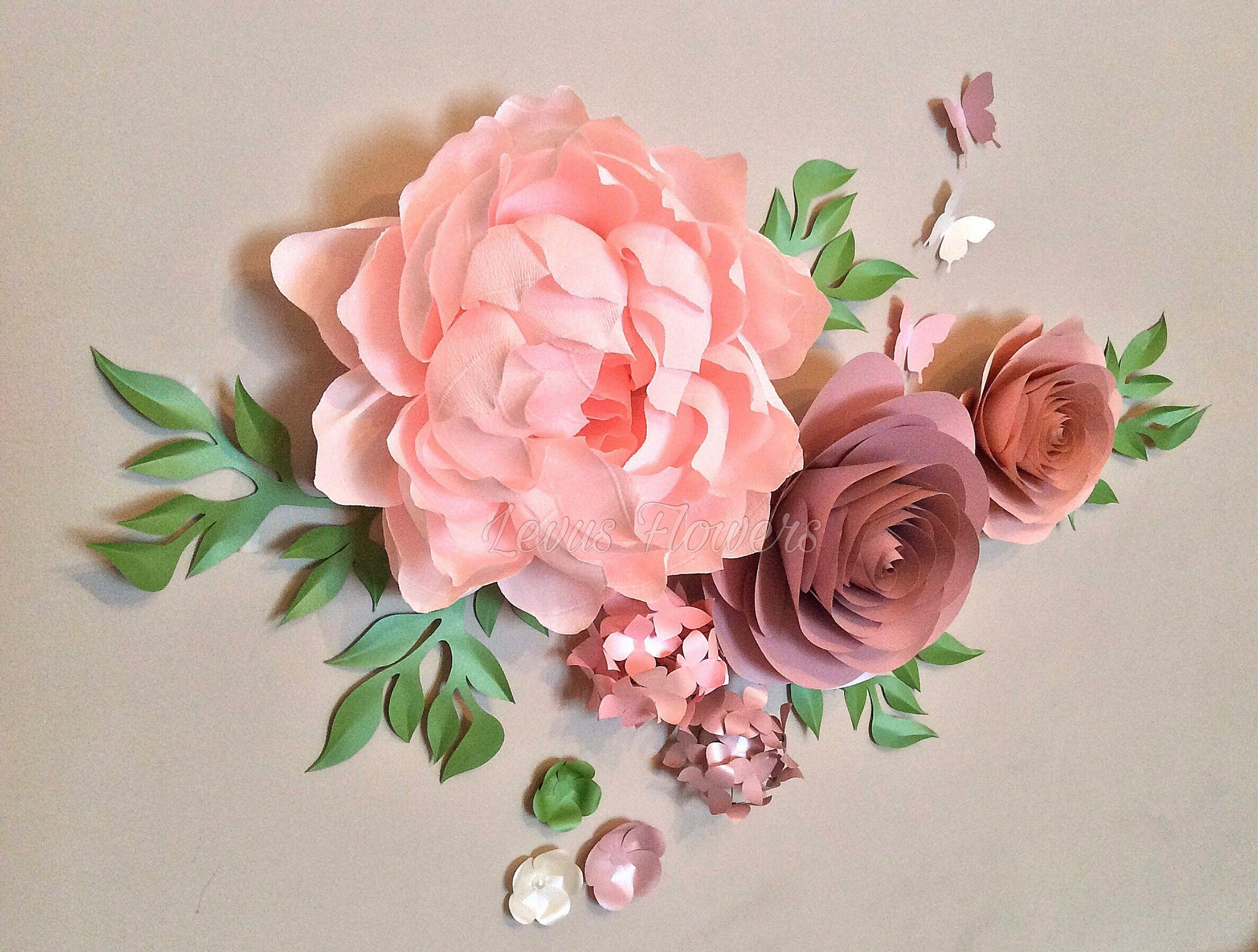 Nursery Flowers Decor Crepe Paper Flowers Large Paper Flowers