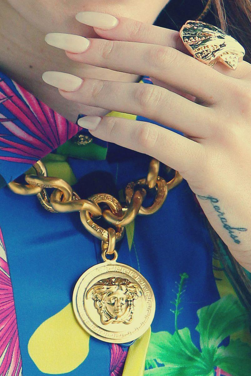 Lana Del Rey Light Pink Nails | Long oval nails, Light