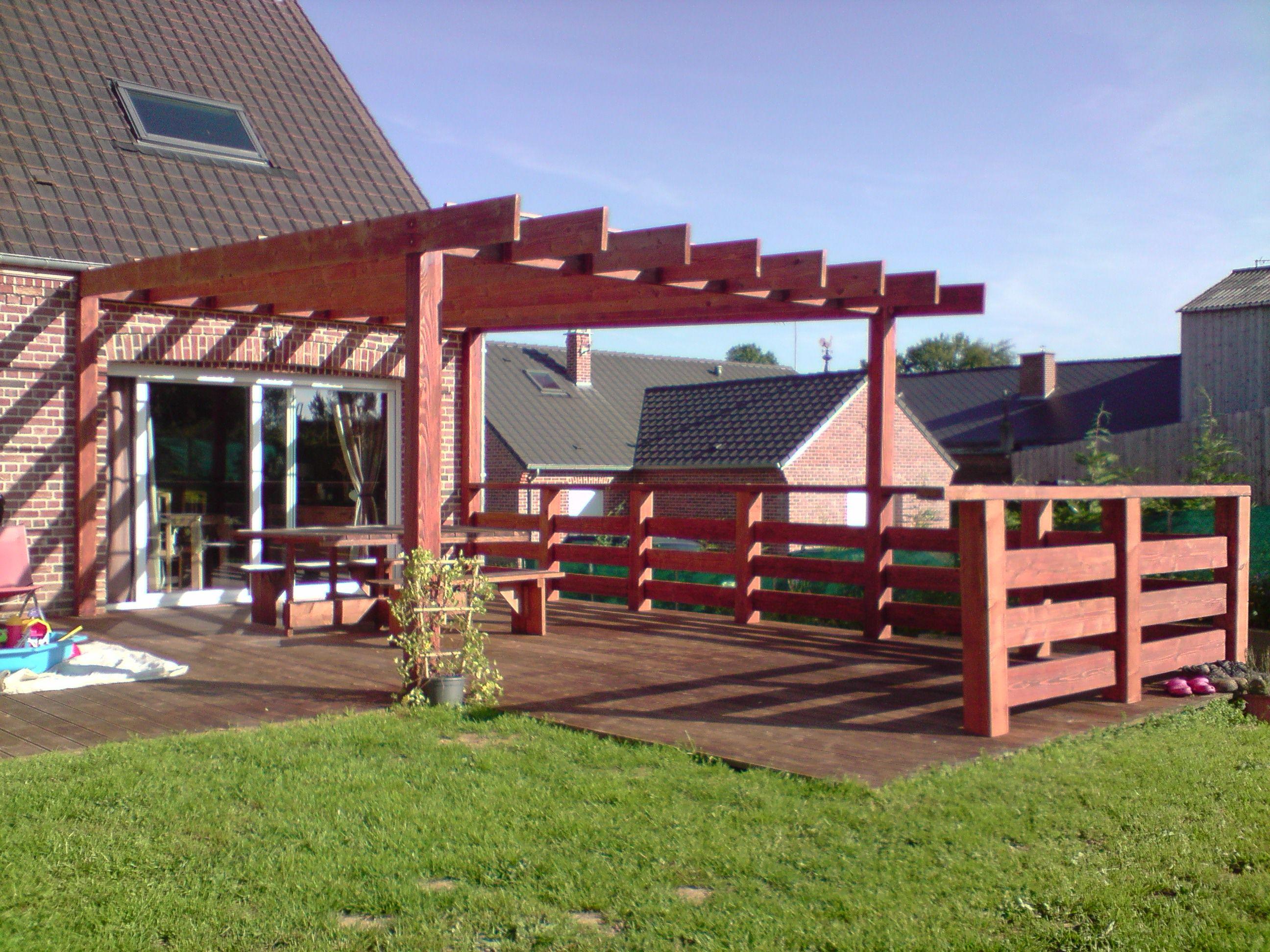 construction d 39 un garde corp et d 39 une pergola terrasse bois pergola et pergola bois