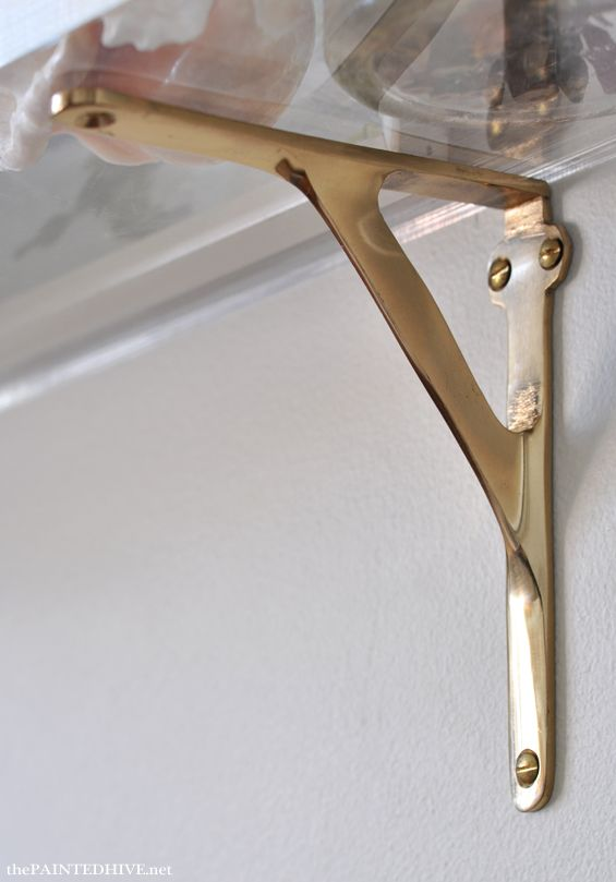 Acrylic U0026 Brass Wall Shelves From Discount Brass ....I AM GOING TO PUT 2 OF  THIS ABOVE THE TOILET
